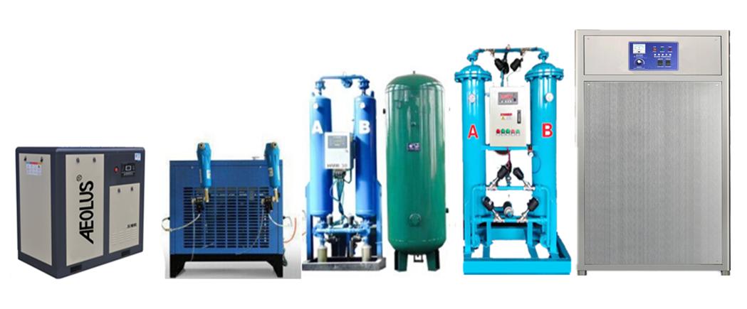 600克臭氧发生器=空压机+冷干机+吸附干燥机+储气罐+制氧机+臭氧发生器一套